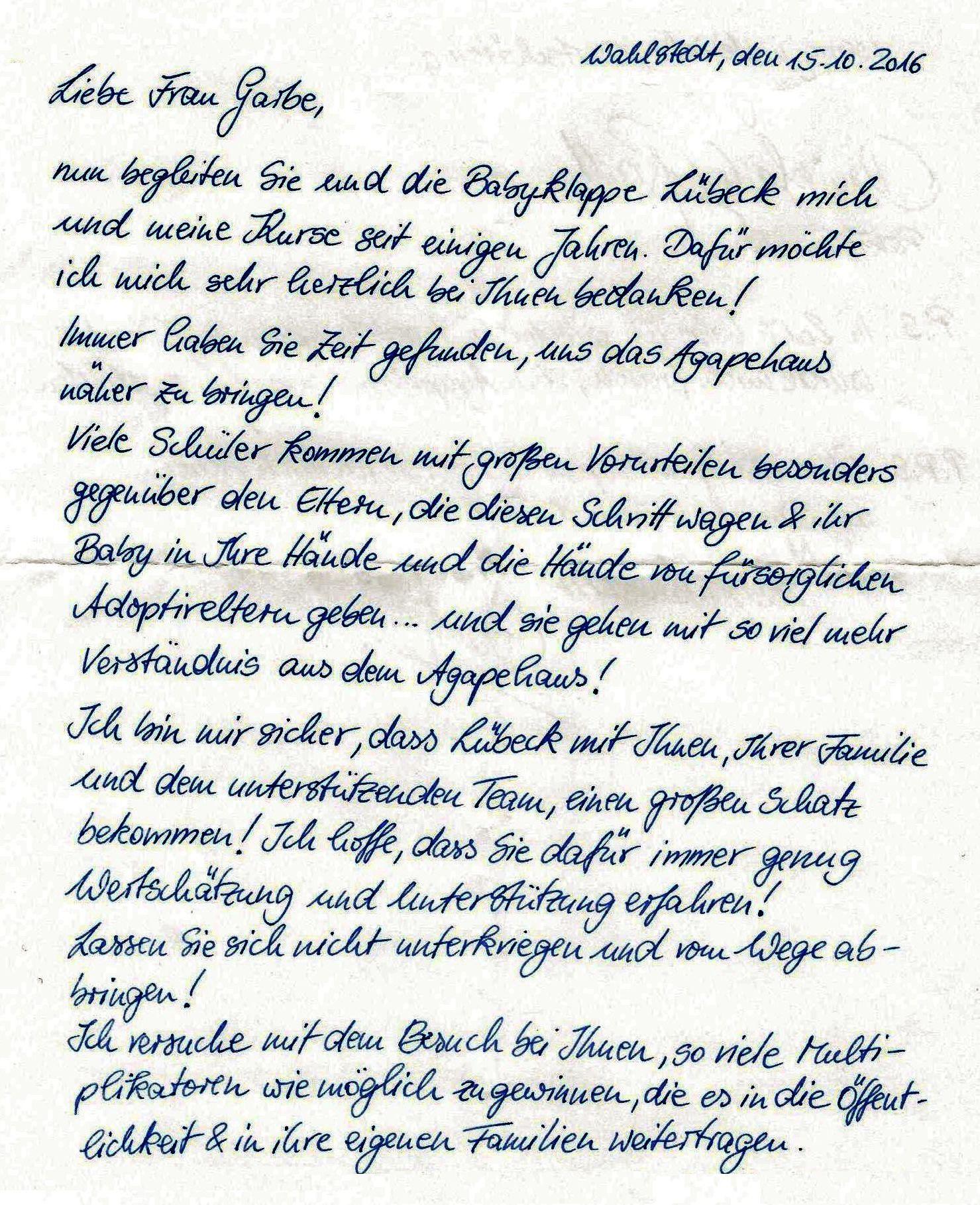 Startseite | Agape Haus - Leben bewahren Lübeck e.V.